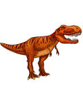 Dinosaur:tyrannosaurus. It has a big head and sharp teeth, and strong and agile body Stock Photo