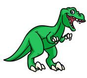 Dinosaur Tyrannosaurus Rex cartoon illustration Stock Photography