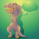 Dinosaur  tyrannosaurus rex with text bubble Stock Photography