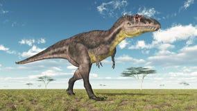 Dinosaur Tyrannotitan. Computer generated 3D illustration with the dinosaur Tyrannotitan Stock Photography