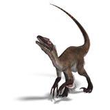 Dinosaur Utahraptor vector illustration