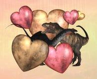 Dinosaur Valentine Royalty Free Stock Image