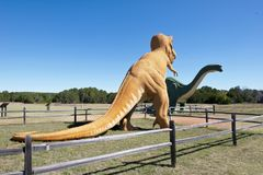 Dinosaur Valley on the Paluxy river in Texas. Stock Photos