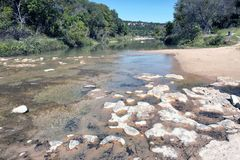 Dinosaur Valley on the Paluxy river in Texas. Royalty Free Stock Photography