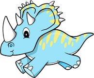 Dinosaur Vector. Blue Triceratops Dinosaur Vector Illustration Royalty Free Stock Photo