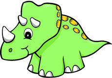 Dinosaur Vector. Green Triceratops Dinosaur Vector Illustration Royalty Free Stock Photography