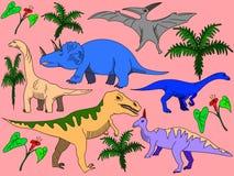 Dinosaur vector for adults Stock Photos