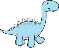 Dinosaur Vector Illustration. Cute blue Dinosaur Vector Illustration Stock Photography