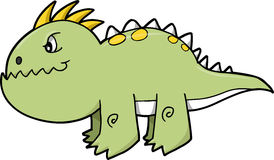 Dinosaur Vector Illustration Royalty Free Stock Images