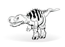 Dinosaur Vector Sketch Stock Images