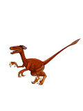 Dinosaur:velociRaptor. A two-legged carnivorous dinosaur feathers, with a long, strong tail, and feet of the second toe with large sickle toe claw Royalty Free Stock Images