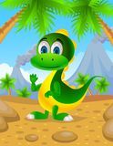 Dinosaur vert mignon Image libre de droits