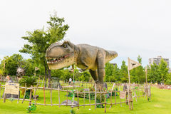 Dinosaur w parku Fotografia Stock