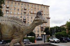 Dinosaur w podwórzu Darwin muzeum Obrazy Royalty Free
