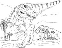 Dinosaur walking Stock Photos