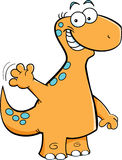 Dinosaur waving Stock Images