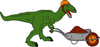 Dinosaur worker Royalty Free Stock Photos