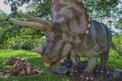 Dinosaur in the zoo park