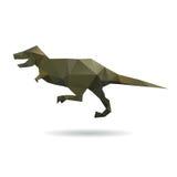 Dinosaura abstrakt odizolowywający na biali tła Fotografia Royalty Free