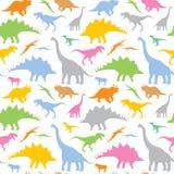 Dinosaura bezszwowy wzór royalty ilustracja