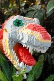 dinosaura budujący lego Obrazy Royalty Free
