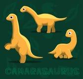 Dinosaura Camarasaurus kreskówki wektoru ilustracja ilustracja wektor