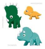 Dinosaura Ceratops wektoru ilustracja Fotografia Royalty Free