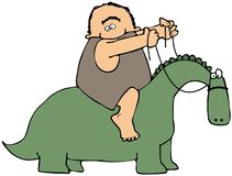 dinosaura jeździec Obraz Royalty Free