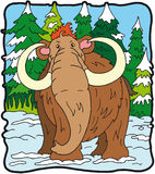 dinosaura mamut Zdjęcia Stock