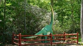 Dinosaura miejsce przy natury sztuki wioską w Montville, Connecticut Zdjęcie Stock
