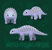 Dinosaura Nodosaurus kreskówki wektoru ilustracja Obrazy Royalty Free