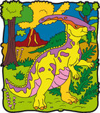 dinosaura parasaurolophus Obraz Stock