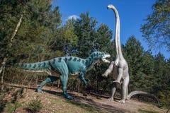 Dinosaura pojedynek Zdjęcie Royalty Free