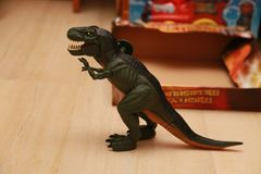 Dinosaura rex zabawki zakończenie up Obraz Stock