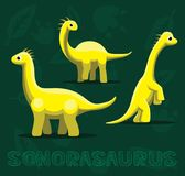 Dinosaura Sonorasaurus kreskówki wektoru ilustracja Obrazy Stock