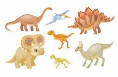 Dinosaura wektoru set ilustracji