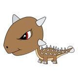 Dinosaure d'Ankylosaurus de bébé de bande dessinée Image stock