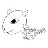 Dinosaure d'Ankylosaurus de bébé de bande dessinée Images libres de droits