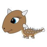 Dinosaure d'Ankylosaurus de bébé de bande dessinée Photos stock