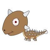 Dinosaure d'Ankylosaurus de bébé de bande dessinée Photo stock