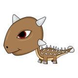 Dinosaure d'Ankylosaurus de bébé de bande dessinée Images stock