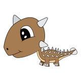 Dinosaure d'Ankylosaurus de bébé de bande dessinée Image libre de droits