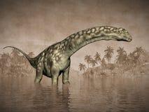 Dinosaure d'Argentinosaurus - 3D rendent Photographie stock libre de droits