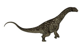 Dinosaure d'Argentinosaurus se levant - 3D rendent Photo stock