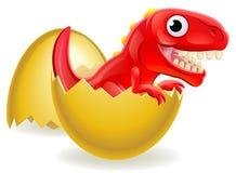 Dinosaure de bande dessinée hachant de l'oeuf Photos libres de droits
