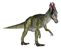 Dinosaure de Cryolophosaurus marchant - 3D rendent Images stock