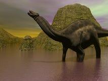 Dinosaure de Dicraeosaurus Images stock