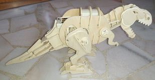 Dinosaure de puzzle Image libre de droits