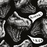 Dinosaure de Trex Fond sans joint de vecteur ENV 8 Photos libres de droits