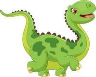 Dinosaure heureux de bande dessinée Photographie stock libre de droits